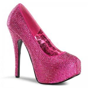 vysoké růžové luxusní lodičky Teeze-06r-hpsa