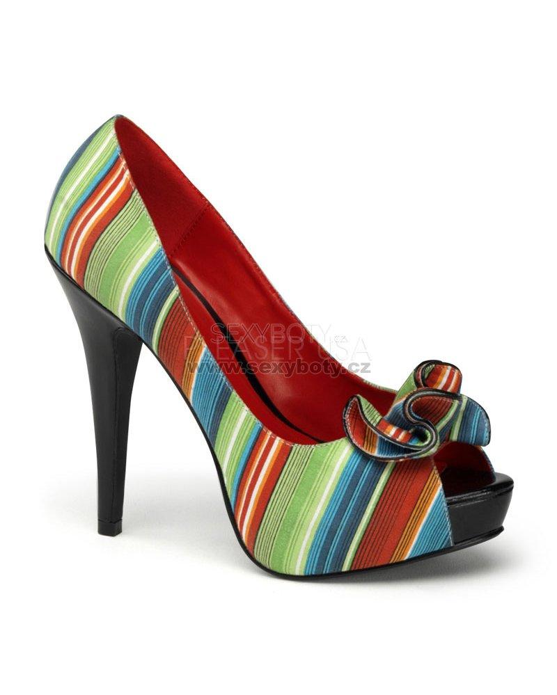 dámské barevné lodičky s otevřenou špičkou Lolita-12-mul - Velikost ... 6ad6822d80