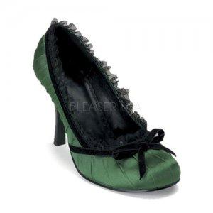 zelené lodičky s krajkou Dainty-420-fgsat