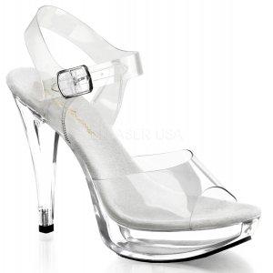 dámské průhledné sandály na podpatku Cocktail-508-c