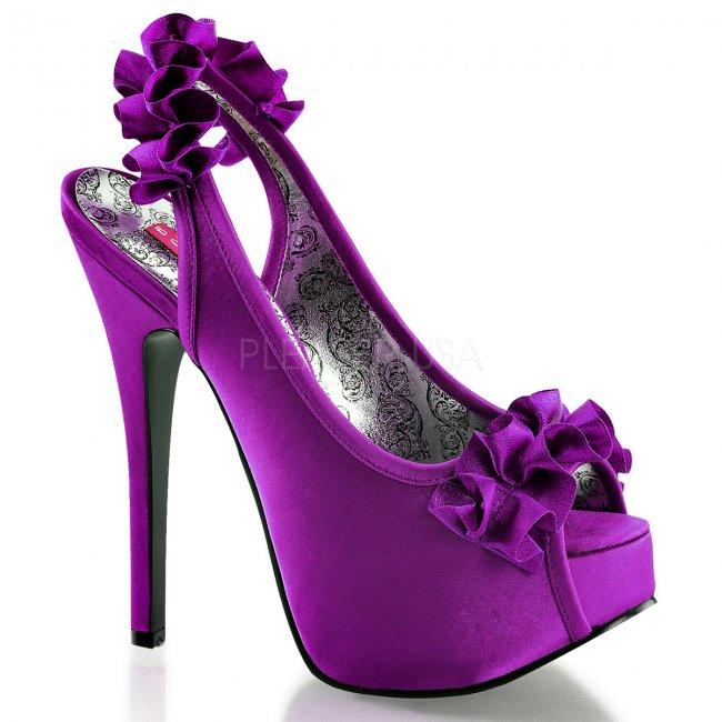 fialové sandálky s mašličkou Teeze-56-ppsa - Velikost 37