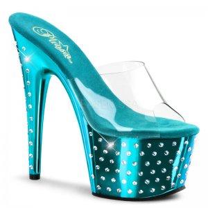 vysoké dámské pantofle s kamínky Stardust-701-ctqch