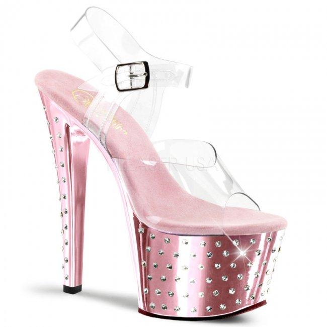 dámské sandály s kamínky Stardust-708-cbpch - Velikost 36