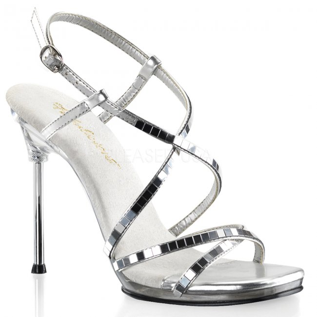 dámské sandálky se zrcadélky Chic-09-smirc - Velikost 36