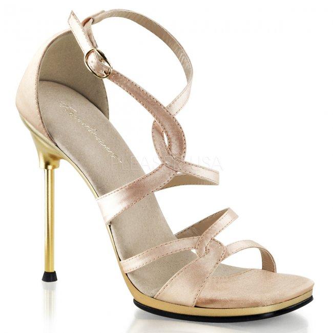 béžové společenské sandály Chic-46-nusag - Velikost 38