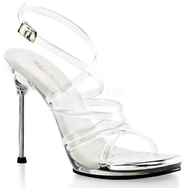 průhledné páskové dámské sandály Chic-07-c - Velikost 35