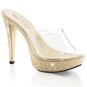 dámské pantoflíčky na podpatku Cocktail-501sdt-ccr