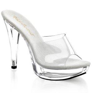 průhledné dámské pantoflíčky na podpatku Cocktail-501-c