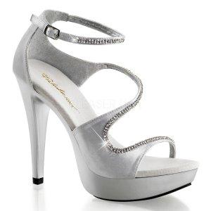 stříbrné společenské sandálky Cocktail-526-ssa