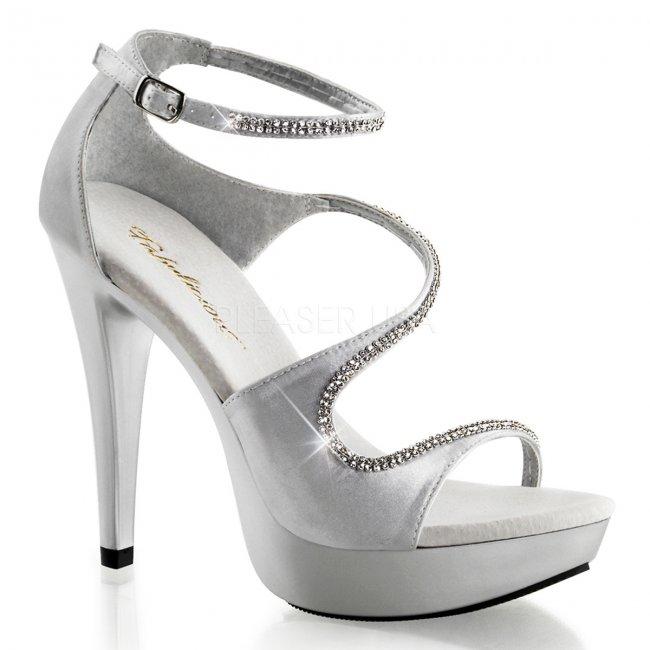 stříbrné společenské sandálky Cocktail-526-ssa - Velikost 41