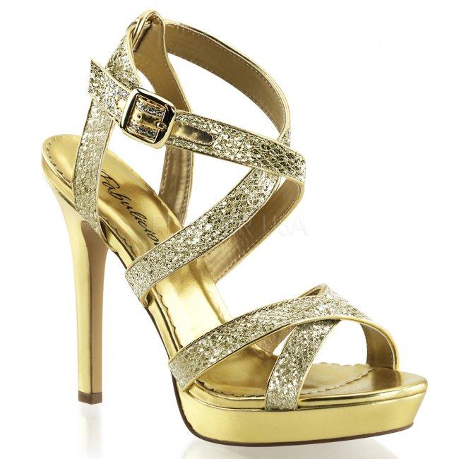 zlaté páskové sandálky Lumina-21-gg - Velikost 39