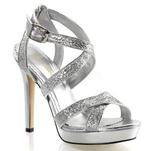 stříbrné páskové sandálky Lumina-21-sg