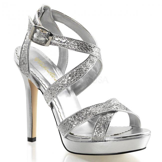 stříbrné páskové sandálky Lumina-21-sg - Velikost 36
