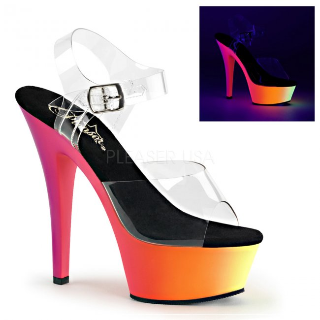 dámské sandály s UV efektem Rainbow-208uv-c - Velikost 42