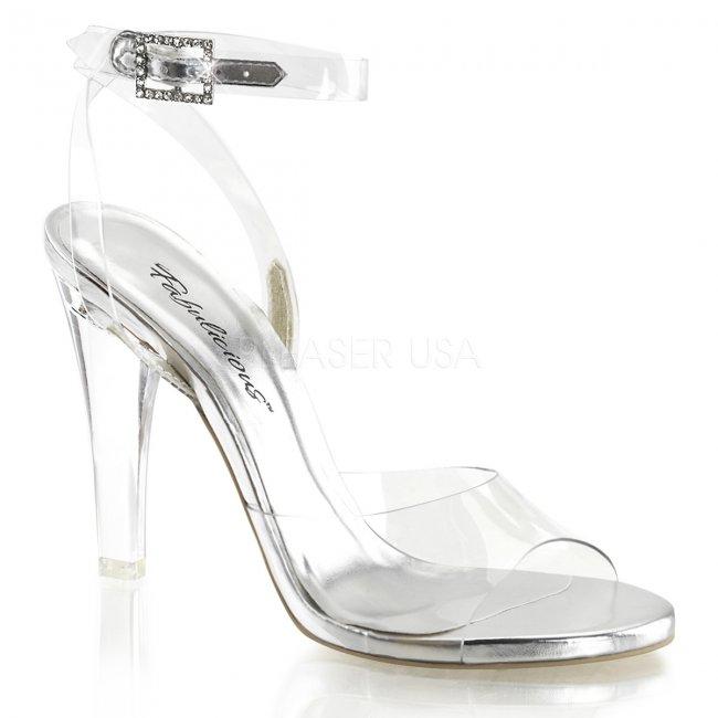 dámské průhledné sandálky Clearly-406-cspu - Velikost 42