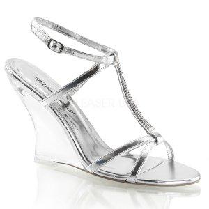 stříbrné sandály na klínku Lovely-428-smpu-c