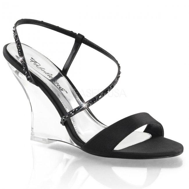 sandálky na klínku Lovely-417-bsa-c - Velikost 40