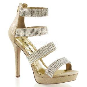 zlaté luxusní společenské sandály Lumina-30-gf
