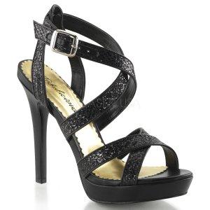 černé páskové sandálky Lumina-21-bg