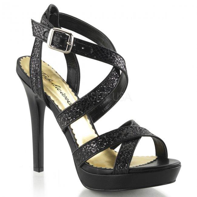 černé páskové sandálky Lumina-21-bg - Velikost 36