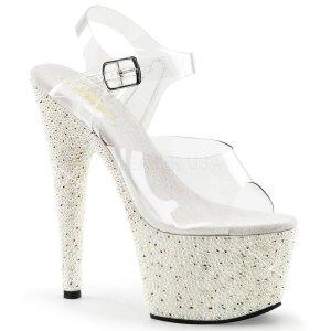 vysoké sandálky s kamínky a perličkami Pearlize-708-cw