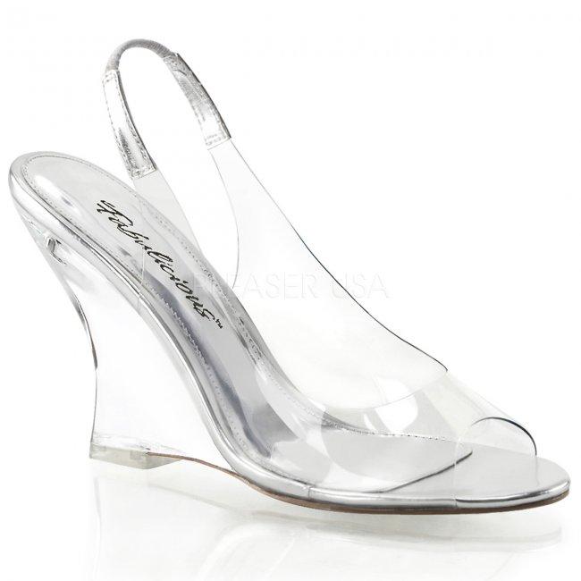 dámské sandálky na klínu Lovely-450-cs-c - Velikost 40