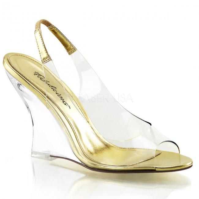dámské sandálky na klínku Lovely-450-cg-c - Velikost 35