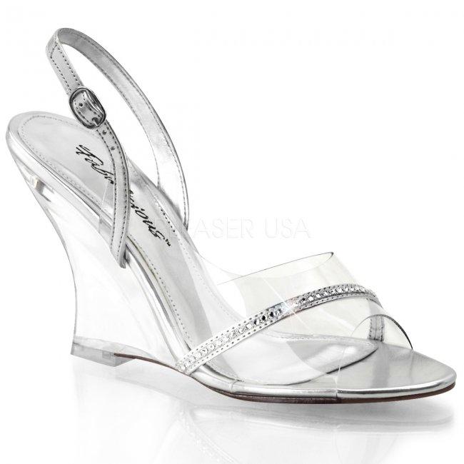 dámské sandálky na klínu Lovely-456-cs-c - Velikost 35