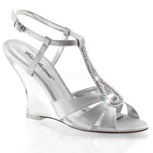 stříbrné sandálky na klínku Lovely-420-ssa-c