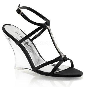 černé sandálky na klínku Lovely-428-bsa-c