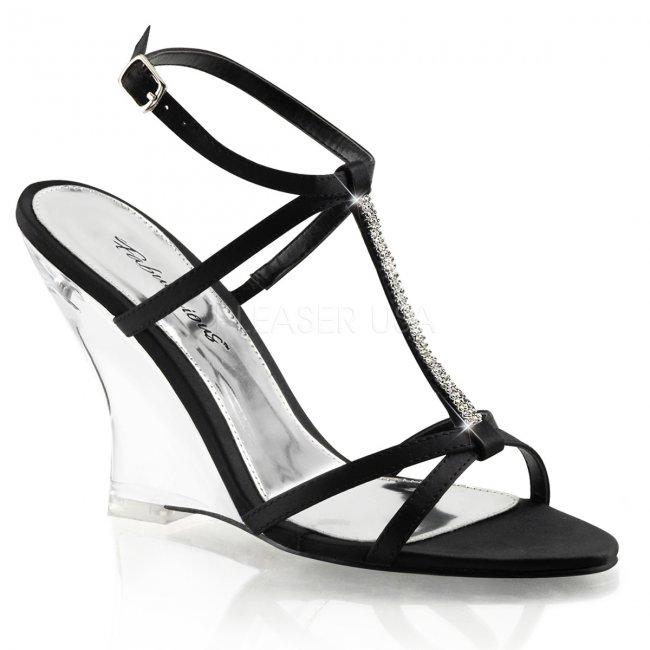 černé sandálky na klínku Lovely-428-bsa-c - Velikost 37