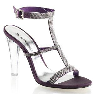 fialové sandály na zapínání Clearly-418-epsa