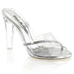 průhledné pantoflíčky s kamínky Clearly-401r-c