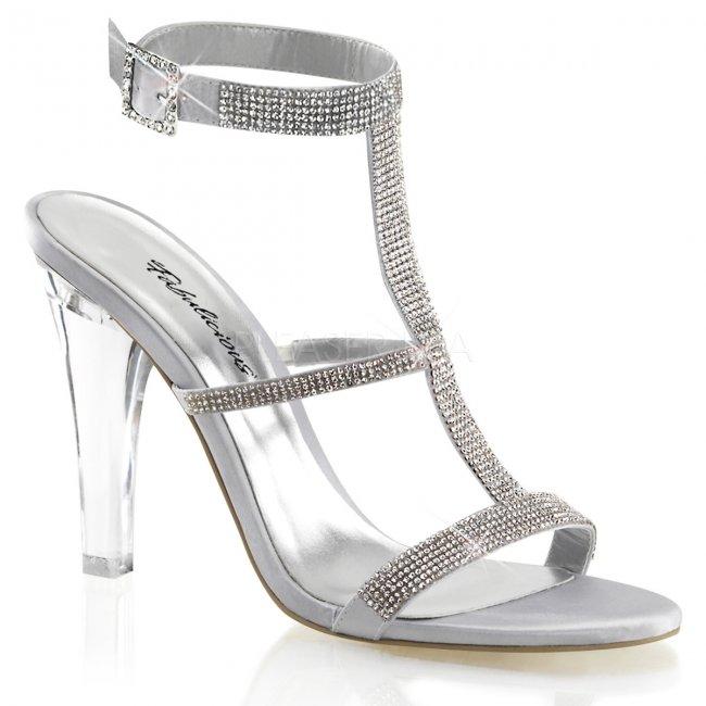 dámské stříbrné sandále Clearly-418-ssa - Velikost 36