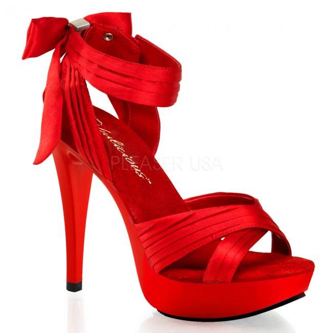 červené sexy sandálky Cocktail-568-rsa - Velikost 43