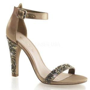 luxusní saténové sandálky Clearly-436-bzsa