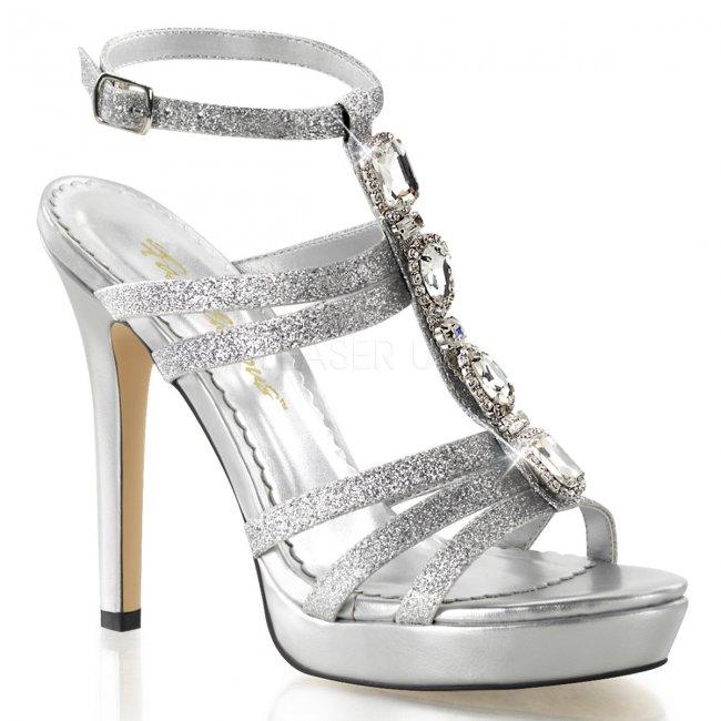 stříbrné dámské sandálky Lumina-22-sg - Velikost 36