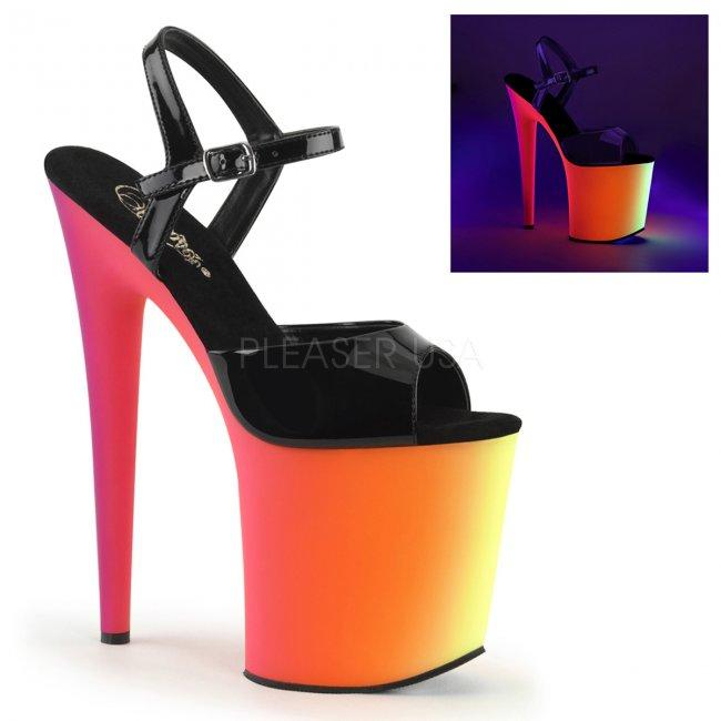 extra vysoké sandály s UV efektem Rainbow-809uv-b - Velikost 36
