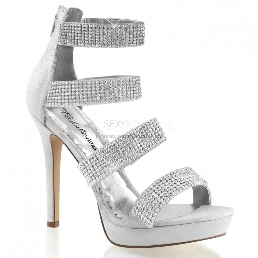 stříbrné luxusní sandály Lumina-30-sf - Velikost 38   SEXYBOTY.cz 2eed3aa31e