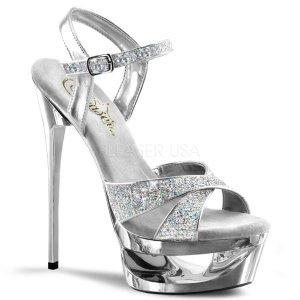 stříbrné sandálky na jehlovém podpatku Eclipse-619g-s