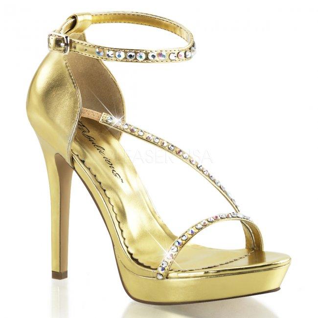zlaté sandálky s kamínky Lumina-26-gpu - Velikost 35