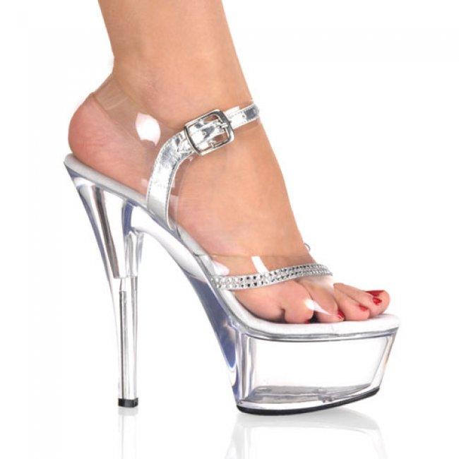 Kiss-208r-c krásné sexy boty na podpatku a platformě - Velikost 43