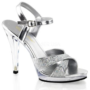 stříbrné dámské páskové sandály Flair-419g-sc