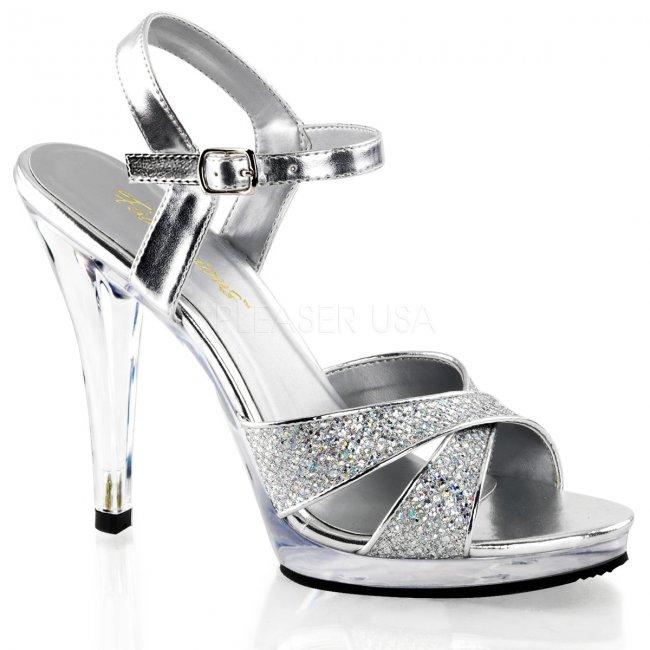 stříbrné dámské páskové sandály Flair-419g-sc - Velikost 39