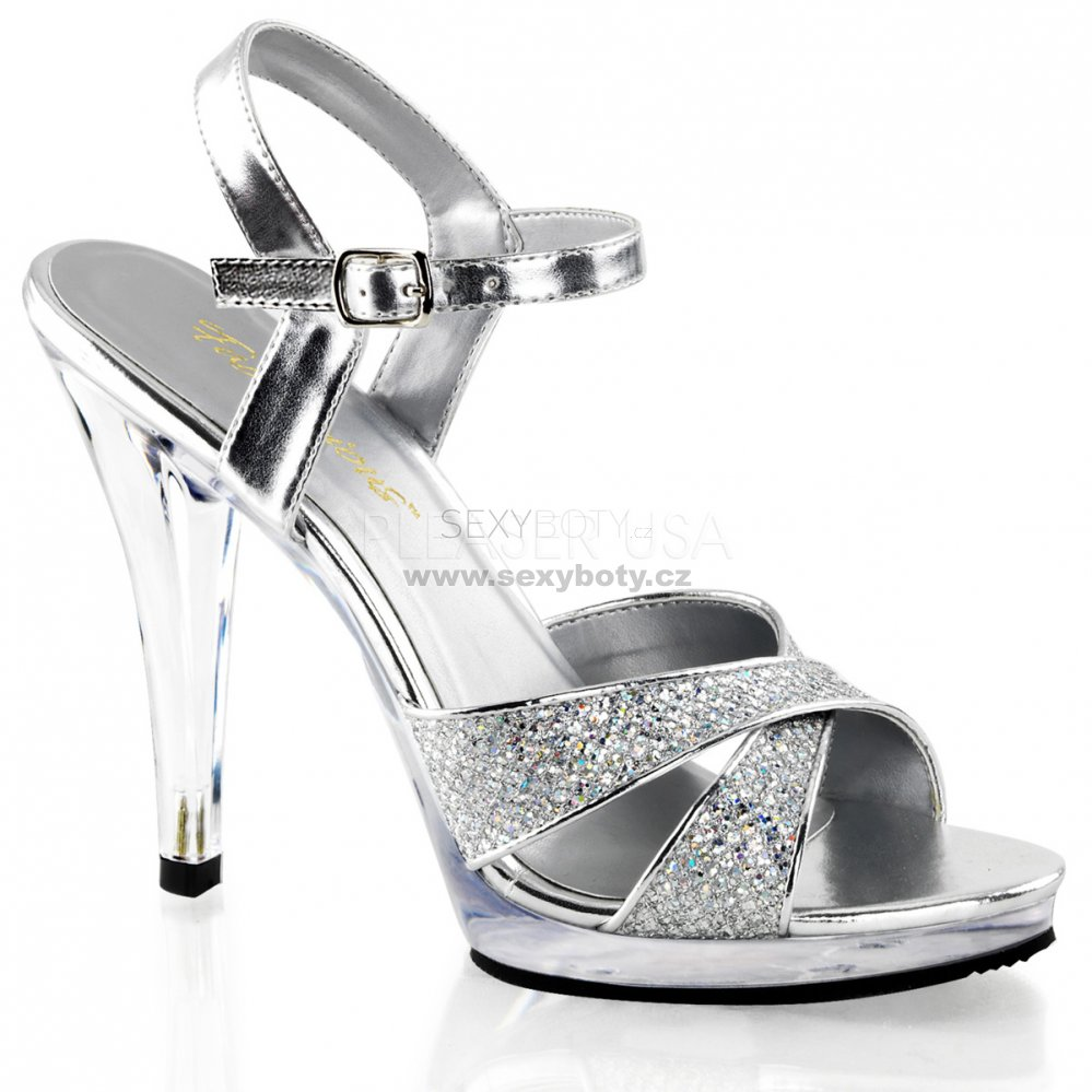 e7cbd229caa stříbrné dámské páskové sandály Flair-419g-sc - Velikost 37 ...