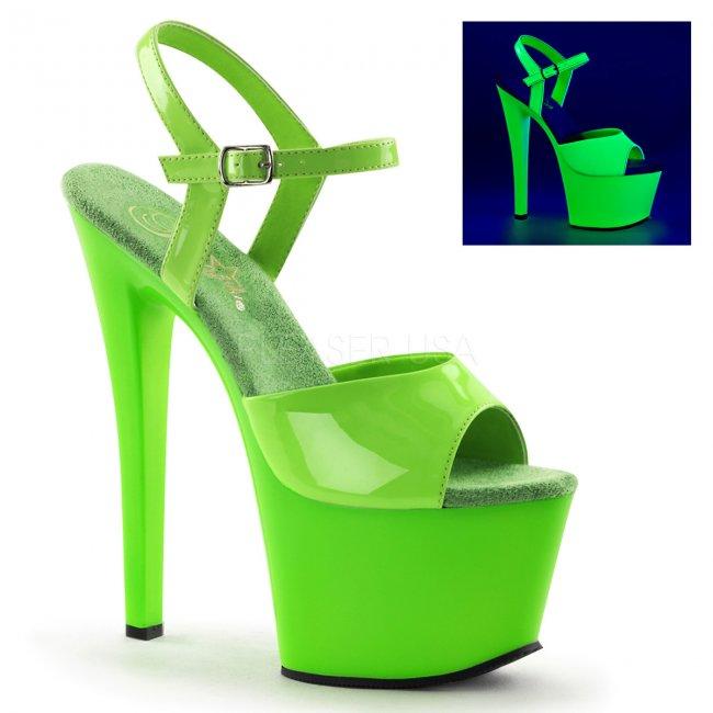 zelené sandálky s UV efektem Sky-309uv-ngn - Velikost 38