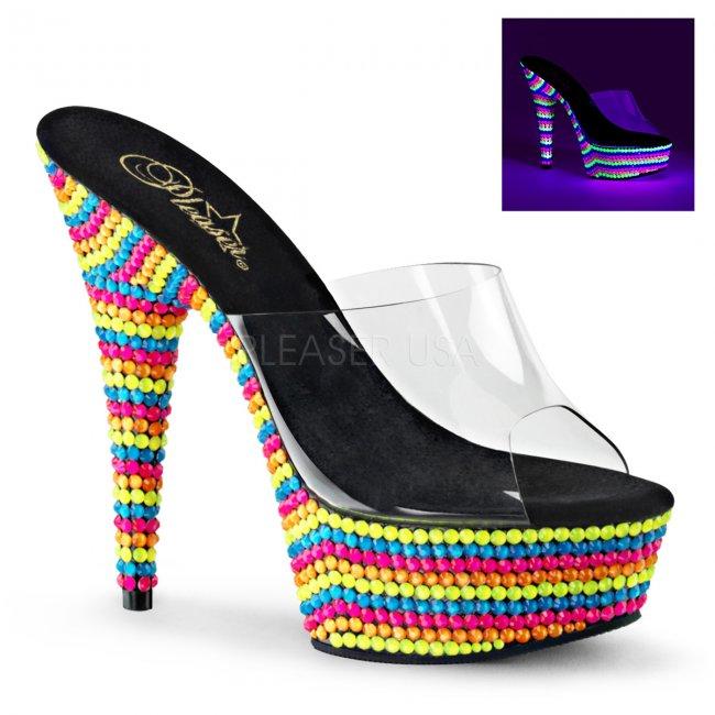 UV pantofle na platformě Delight-601rbs-c - Velikost 38