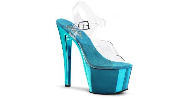 tyrkysově modré vysoké boty na podpatku Sky-308-ctech - Velikost 43    SEXYBOTY.cz fe7d6488f8