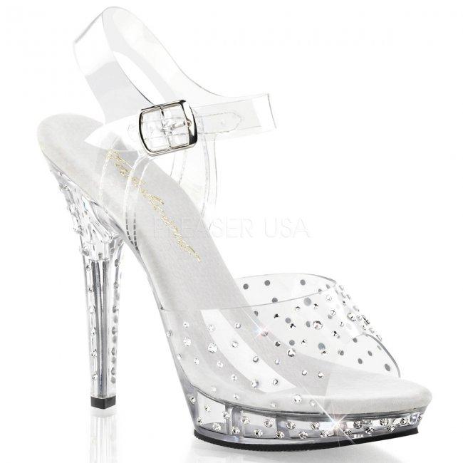 dámské průhledné sandálky Lip -108rs-c - Velikost 42