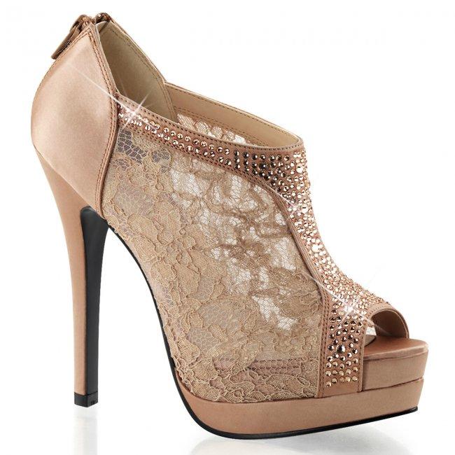 dámské saténové boty Bella-26-bhsa - Velikost 38